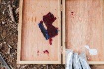 Image de peinture sur palette — Photo de stock
