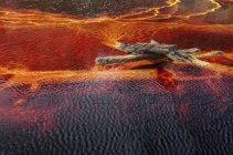 Flux oranges et transitions sur la roche dans les mines de Riotinto, Huelva — Photo de stock