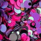Fondo de lentejuelas de brillo de uñas de colores - foto de stock