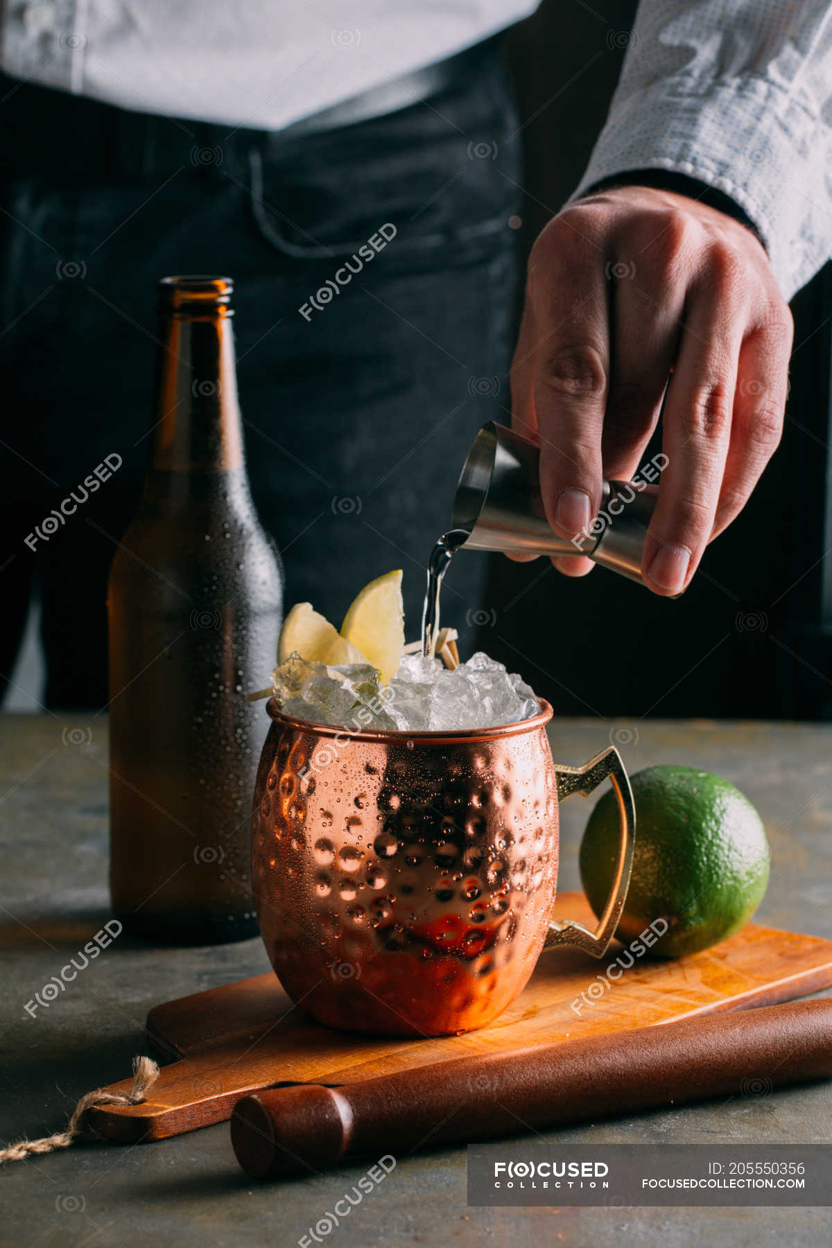 Moscow Mule Cocktail Bar Human Stock Photo 205550356
