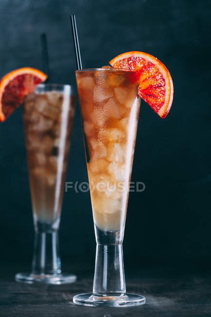Summer citric fresh cocktail — Stock Photo