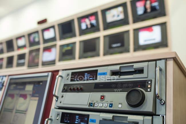 Professional tv studio equipment — Stock Photo