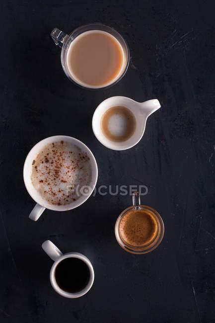 Varios tipos de café - foto de stock