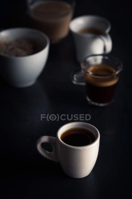 Various types of coffee — Stock Photo