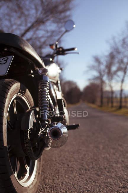 Rückseite des Motorrads — Stockfoto