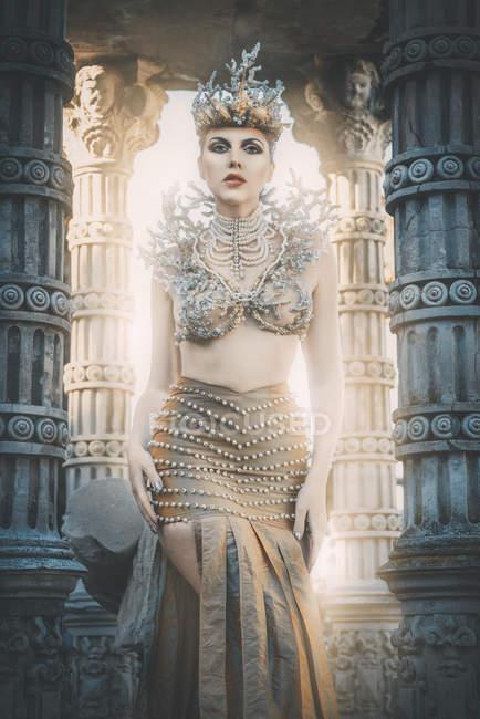 Красивою грецької богині моря — стокове фото