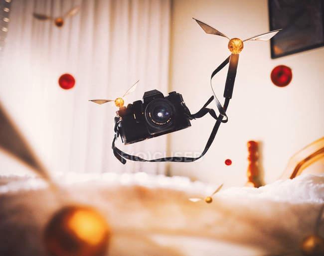 Летающая камера с квиддичами — стоковое фото