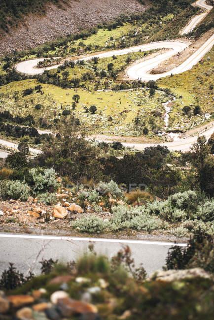 Estrada do belo vale em Huaraz — Fotografia de Stock