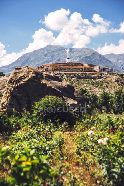 Campo Santo di Yungay e Huascaran picco — Foto stock