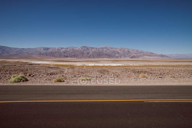 Route dans la vallée de la mort — Photo de stock