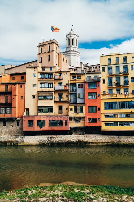 Colorful houses in Girona — Stock Photo