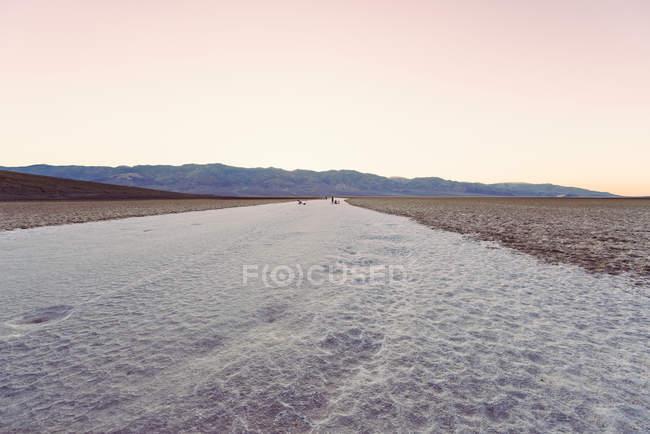 Bacia Badwater no vale da morte — Fotografia de Stock