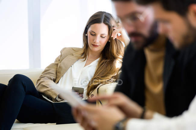Business people working in modern office. — Stock Photo