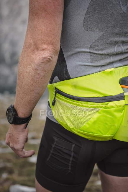 Homem durante run cross country — Fotografia de Stock
