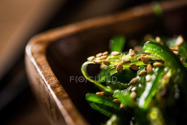 Salat mit Seetang und Sesam — Stockfoto