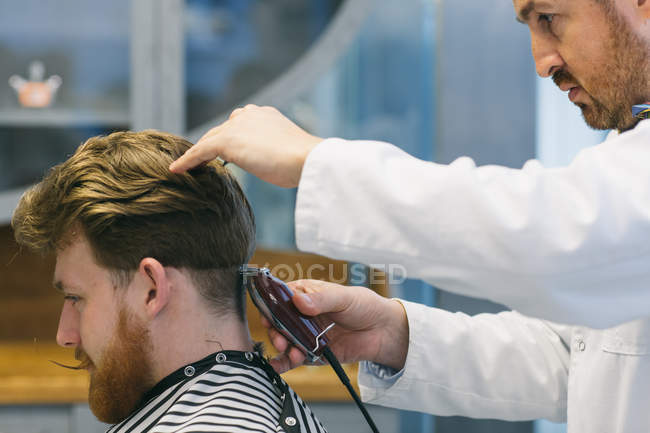 Modern hairdressing process — Stock Photo