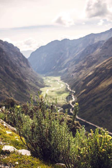 Красивая долина в Хуарас, Перу — стоковое фото