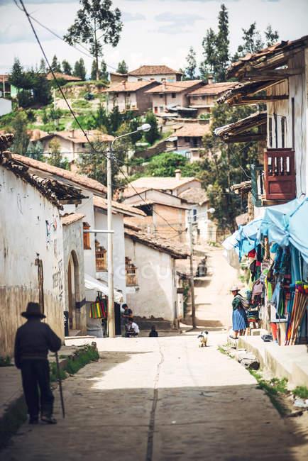 Pequeño pueblo de Huaraz - foto de stock