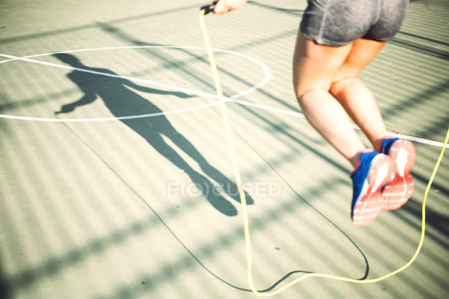 Workout with jump rope — Stock Photo