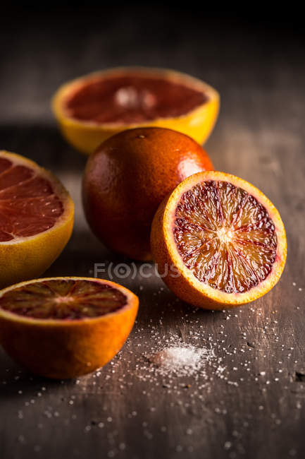 Blood red oranges — Stock Photo