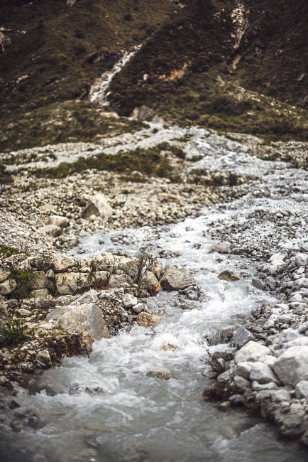 Hermoso valle en Huaraz - foto de stock