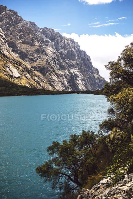 Huandoy montanha e Lago Paron, Peru — Fotografia de Stock