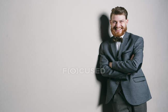 Young gentleman in studio — Stock Photo