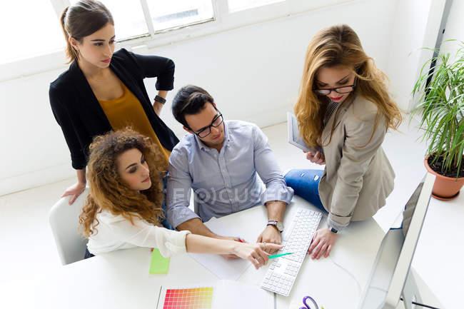 Konferenz im modernen Büro — Stockfoto