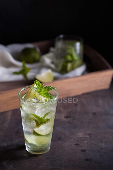 Vaso de mojito fresco - foto de stock
