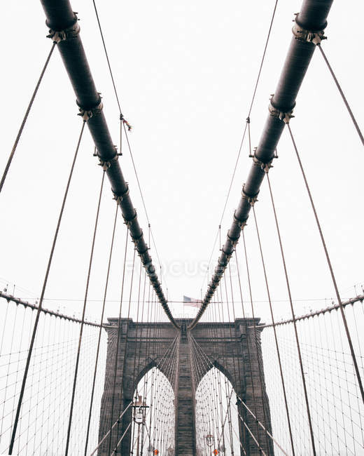 New York bridge ropes — Stock Photo