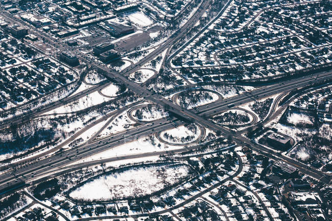 Зимние проезжие дороги — стоковое фото