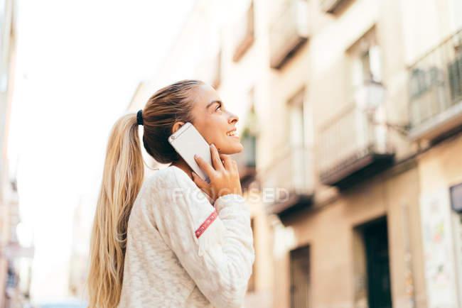Cheerful blonde girl — Stock Photo