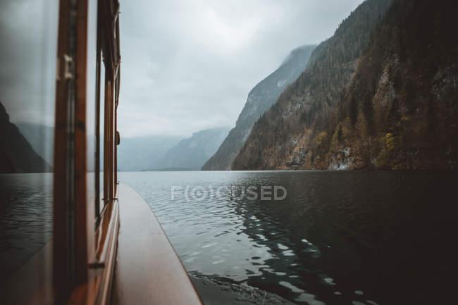 Bateau en lac, Allemagne — Photo de stock