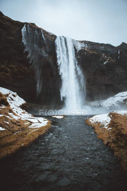 Cachoeira Seljalandsfoss, Islândia — Fotografia de Stock