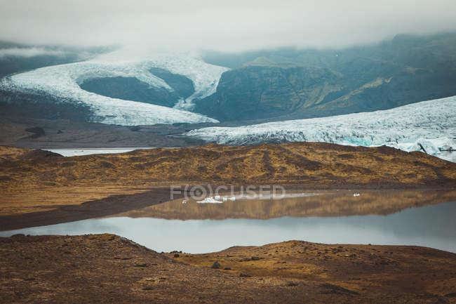 Solheimajokull bellissimo paesaggio, Islanda — Foto stock