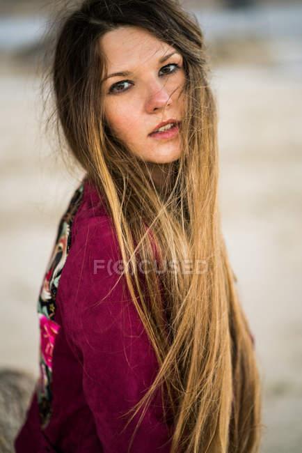 ec0cb40b0f Young pensive woman — Stock Photo