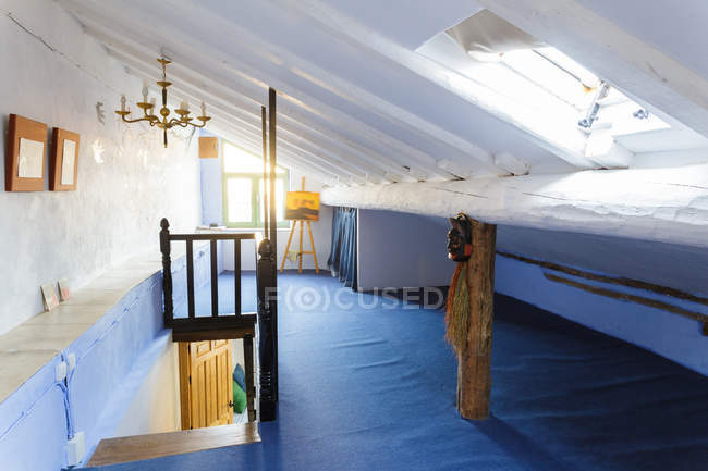 Attic room interior — Stock Photo