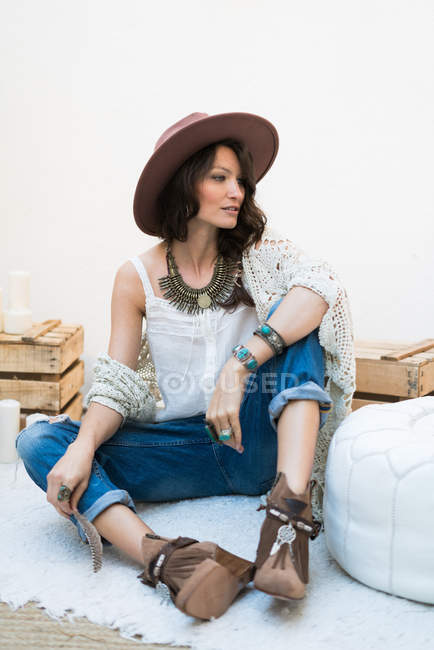 Young stylish female — Stock Photo