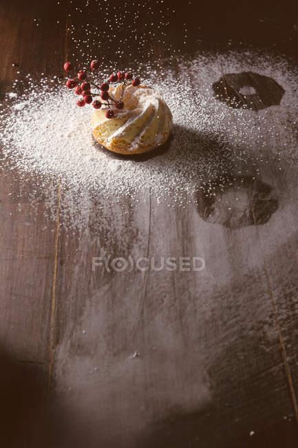 Glaçage de sucre sur les pâtisseries savoureuses — Photo de stock