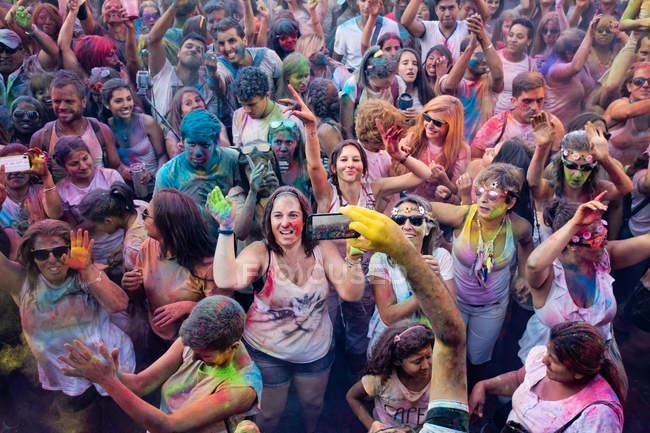 Holi Festival of Monsoon, Lavapies, Madrid — Stock Photo