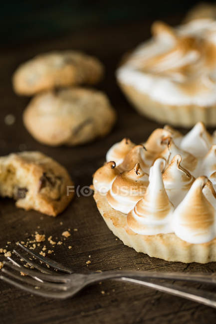 Different fresh desserts — Stock Photo