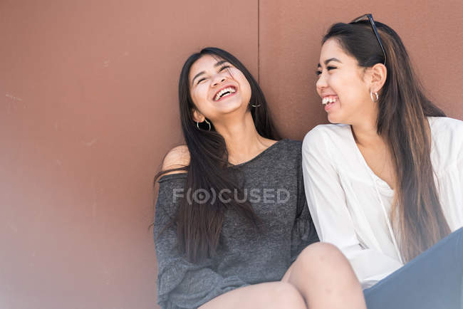 Young happy friends women — Stock Photo