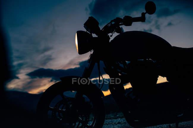 Caf racer motorbike — Stock Photo