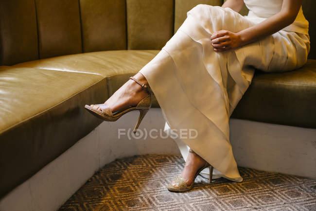 Jambes de femme élégante — Photo de stock