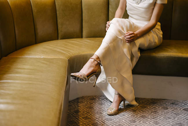Legs of elegant woman — Stock Photo