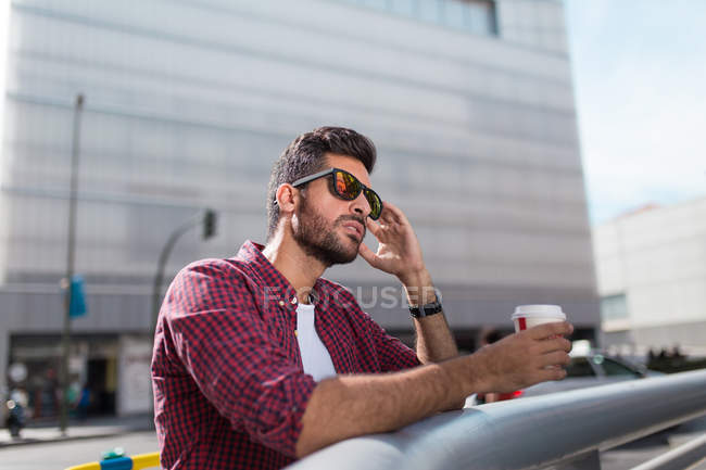 Handsome man with coffee — Stock Photo