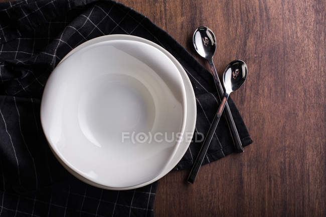 Empty dish seen from above — Stock Photo