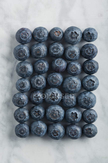 Group of blueberries on marble table — Stock Photo