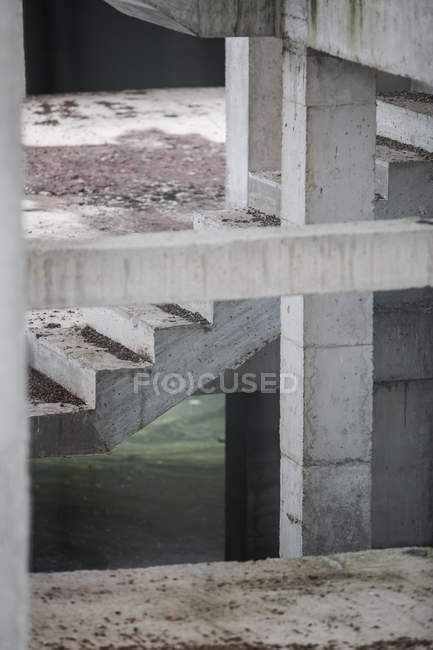 Crop building under construction with concrete stairs passage — Stock Photo