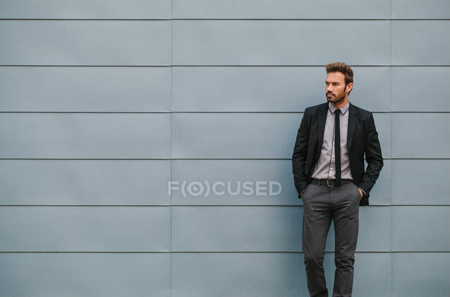 Young Businessman in the Street — Stock Photo